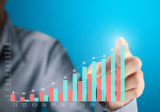 Pushing the graph Stock Images