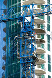 Pushing out section of crane. Royalty Free Stock Images