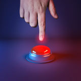Pushing A Panic Button Royalty Free Stock Photos
