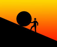 Free Pushing Uphill Stock Photo - 16733640