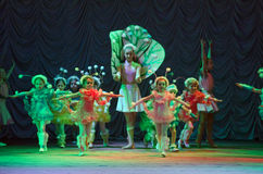 Pushistiki. DNIPROPETROVSK, UKRAINE - MARCH 27: Unidentified children, ages 4-12 years old, perform PUSHISTIKI  on March 27, 2015 in Dnipropetrovsk, Ukraine Stock Photography