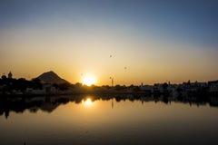 Pushkar湖一个神圣的湖,拉贾斯坦,印度 库存图片