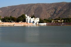 pushkar的湖 免版税图库摄影