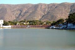 pushkar的湖 库存照片
