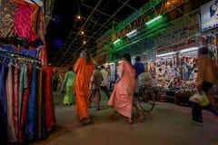 Pushkar δίκαιος sadar bazaar pushkar κύριος δρόμος ajmer πλησίον Rajasthan αγορών MELA στοκ εικόνες
