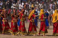 Pushkar справедливое в Pushkar, Раджастхане, Индии. стоковая фотография rf