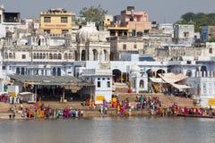 Pushkar - famous worship place in India Royalty Free Stock Photo