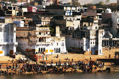 Pushkar Holy City Stock Photography