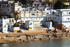 Pushkar Holy City Stock Photo