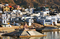 Pushkar Holy City Stock Images