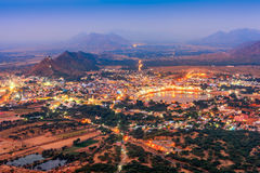 Pushkar Holy City in anticipation of the night, Rajasthan, India Stock Photography