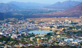 Pushkar, the holy city of India royalty free stock image