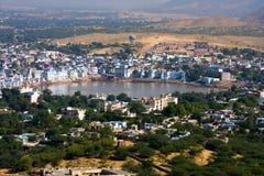 Pushkar, India. Hoogste mening. Royalty-vrije Stock Afbeeldingen