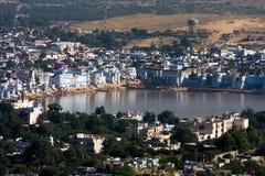 Pushkar, India. Hoogste mening. Royalty-vrije Stock Foto