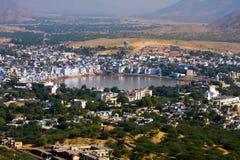 Pushkar, India Hoogste mening Royalty-vrije Stock Afbeelding
