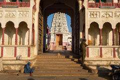 PUSHKAR, INDIA - JAN 07: Rama Vaikunth Temple of Pushkar on Janu Royalty Free Stock Images