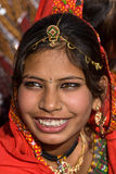 PUSHKAR, INDIA - NOVEMBER 21: An unidentified girl attends the Pushkar fair on November 21, 2012 in Pushkar, Rajasthan, India. Pil Stock Photos