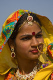 PUSHKAR, INDIA - NOVEMBER 21: An unidentified girl attends the Pushkar fair on November 21, 2012 in Pushkar, Rajasthan, India. Pil Stock Images