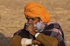 Pushkar kamel Mela (den Pushkar kamelmässan) Arkivbild