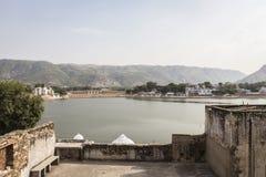 Pushkar lake in day Stock Photo