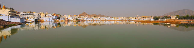 Pushkar lake panoramic Royalty Free Stock Image