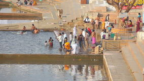 Pushkar lake stock video