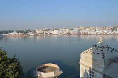 Pushkar Lake. Scenic view of bathing ghats surrounding Pushkar Lake, Rajasthan, India Stock Photography