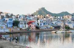 Pushkar lake at sunset, Pushkar - Rajasthan - India Royalty Free Stock Photography