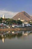 Pushkar lake and temples, India Royalty Free Stock Photography