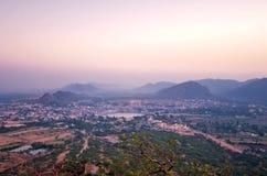 Pushkar odgórny widok, Rajasthan Obrazy Royalty Free