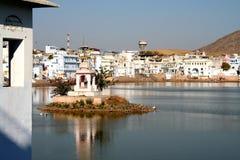 Pushkar See Stockfotos