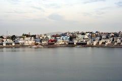 Pushkar sjö eller Pushkar Sarovar på Pushkar - Rajasthan - Indien Royaltyfri Fotografi