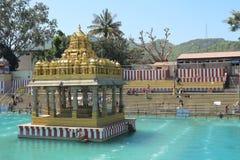 Pushkarini Kunda, Tirupati. A sacred. Lake near the Balaji temple on Mount Tirumala Stock Images