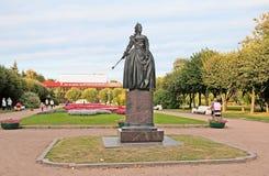 pushkin Άγιος - Πετρούπολη Ρωσία Άγαλμα της Μεγάλης Αικατερίνης Στοκ Εικόνες