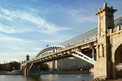 The Pushkin bridge in Moscow Stock Images