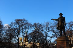 Pushkin A. C. Classic the sculpture attracts the attention of tourists from all over the world Stock Images