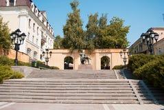 Pushkin-Denkmal in Stavropol Stockbild