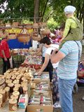 Pushkin festival in the village of Polotnyany Zavod, Kaluga region, Russia 6 June 2016. Royalty Free Stock Image