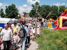 Pushkin festiwal w wiosce Polotnyany Zavod, Kaluga region, Rosja 6 2016 Czerwiec Zdjęcie Stock