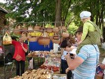 Pushkin festiwal w wiosce Polotnyany Zavod, Kaluga region, Rosja 6 2016 Czerwiec Obrazy Stock
