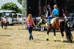 Pushkin festiwal w wiosce Polotnyany Zavod, Kaluga region, Rosja 6 2016 Czerwiec Obraz Stock