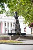 Pushkin monument in Odessa Stock Photos