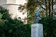 Pushkin Monument in  Weimar, Germany Stock Image