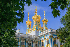 Pushkin Palace Towers Stock Photos