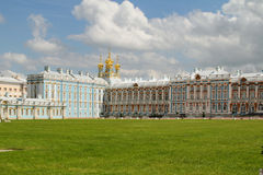 Pushkin Palace Towers Stock Photo