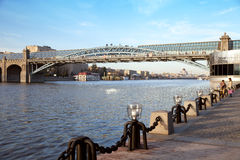 The Pushkin quay in Gorki park Stock Photography