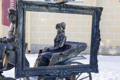 PUSHKIN ROSJA, STYCZEŃ, - 21, 2015: Fotografia rzeźba Fotografia Stock