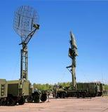 Pushkin, Russie - 5 juin 2017 : Station radar mobile militaire Photos stock