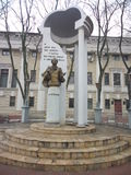 Pushkin`s monument in Voronezh Royalty Free Stock Photo