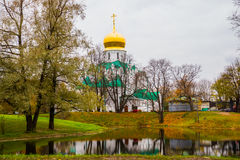 Pushkin, Saint-Petersburg, Russia. The Orthodox Church Feodorovsky sovereign's Cathedral in Tsarskoye Selo Stock Photo